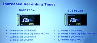 Illustration for article titled NAB: 32GB P2 Cards For VidPros Coming Later This Year