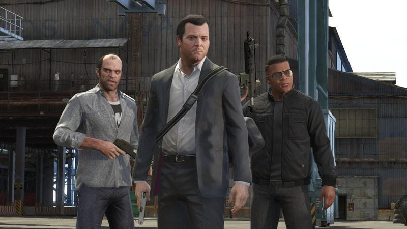 The men of Grand Theft Auto V