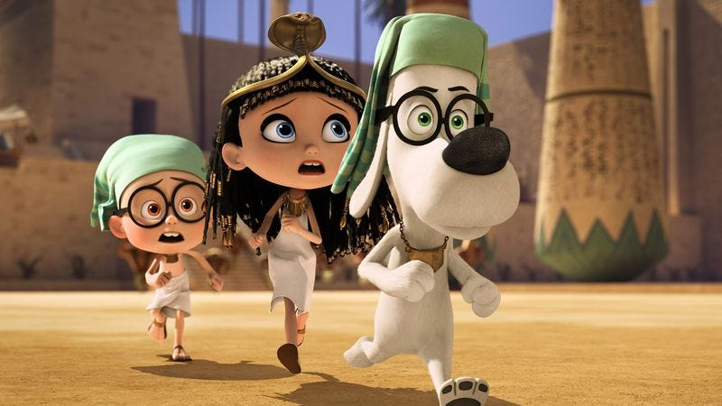 Illustration for article titled Mr. Peabody & Sherman toys with history—including that of its inspiration