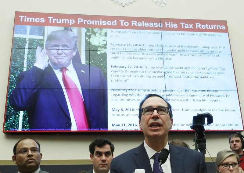 Treasury Secretary Steven Mnuchin testifies during a House Financial Services Committee on Capitol Hill May 22, 2019 in Washington, DC. The committee heard testimony from the Secretary on the State of the International Financial System, and President Donald Trump's tax returns.