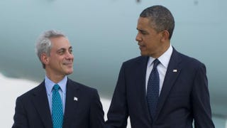 Chicago Mayor Rahm Emanuel and President Barack ObamaSAUL LOEB/AFP/Getty Images