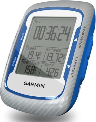 Illustration for article titled Garmin Edge 500 Cycling GPS Tracks Speed, Burned Calories and Heart Rate