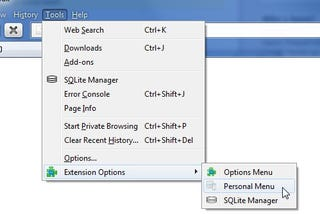 Illustration for article titled Options Menu Adds Quick Access to Extension Settings
