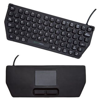 Illustration for article titled Reversible Econo-keys Keyboard Features Keys and Trackpad On Opposite Sides