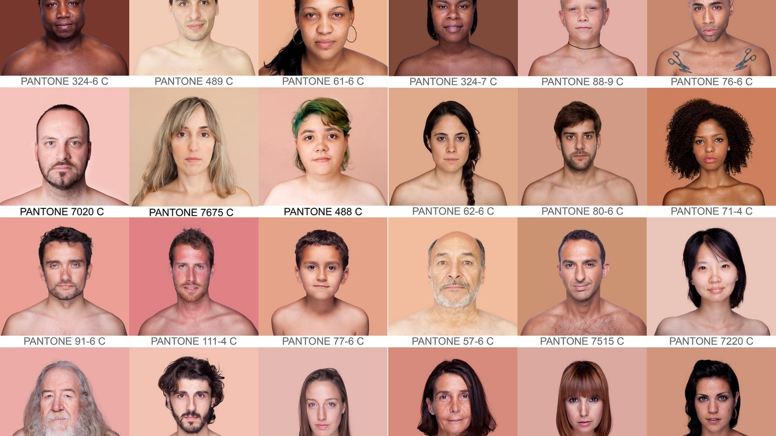 The pantone chart of every human skin color nvjuhfo Image collections