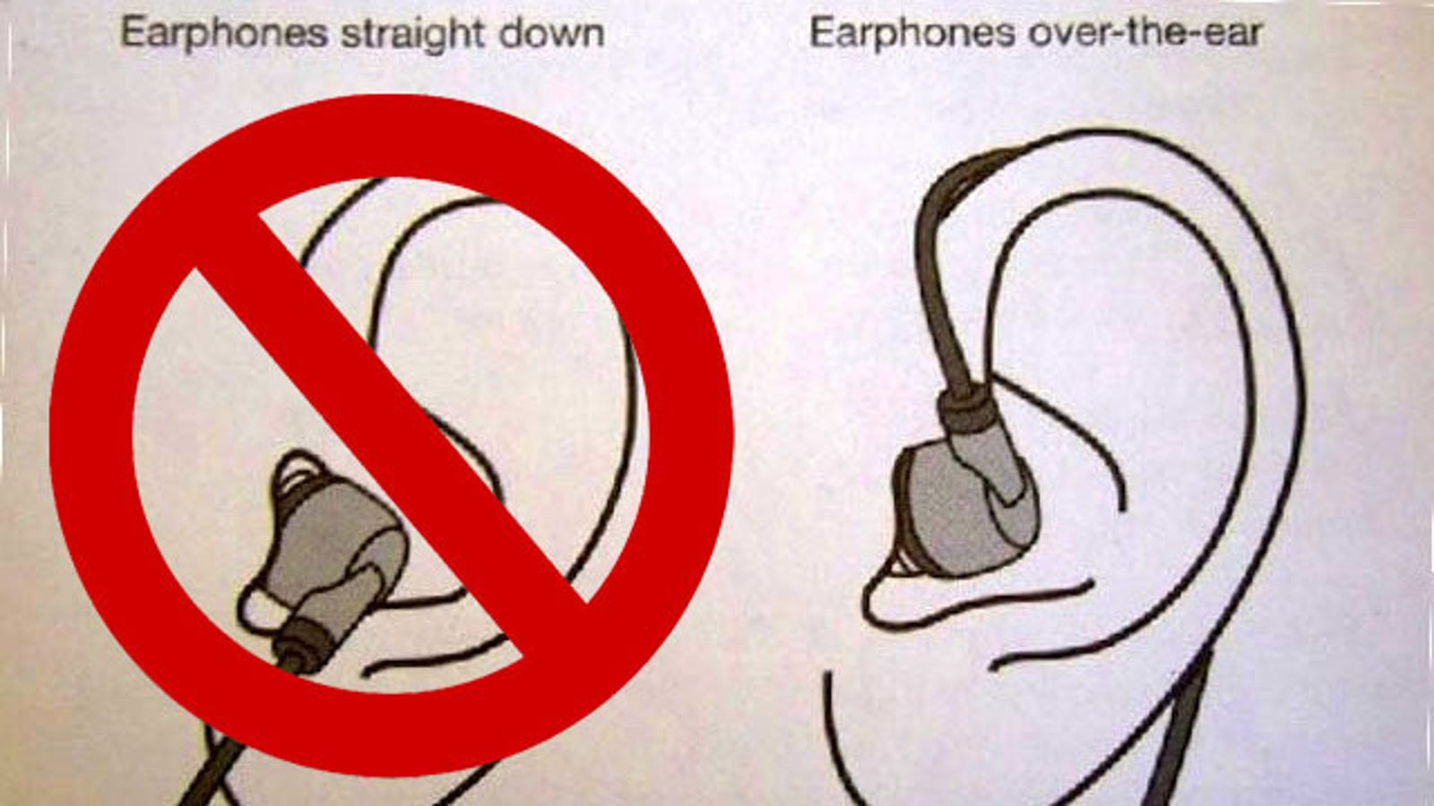 Wrap Earbuds Over Your Ear to Keep Them from Falling Out 230396ee9