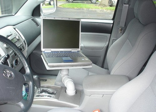 Turn Your Car S Cup Holder Into A Laptop Stand