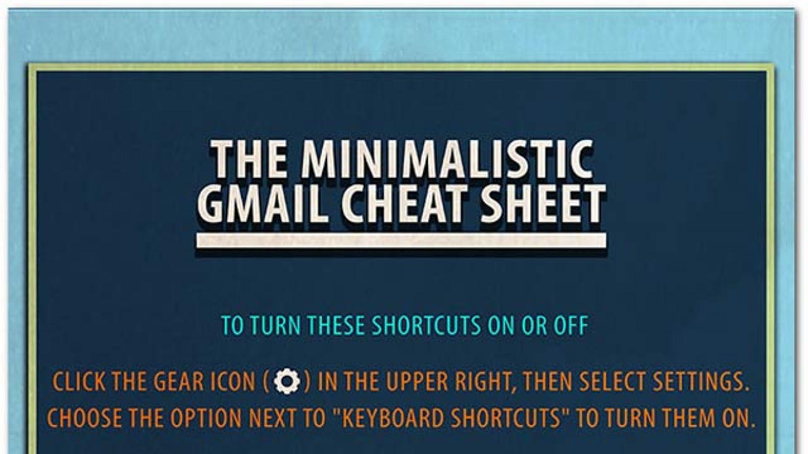 A Cheat Sheet of Every Single Gmail Keyboard Shortcut