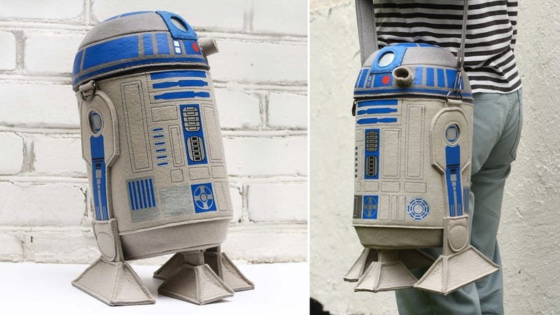 Illustration for article titled Ditch Your Shoulder Bag For This Felted R2-D2 Carry-all