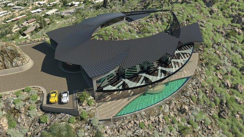 Illustration for article titled Esta casa futurista es el sueño de cualquier supervillano