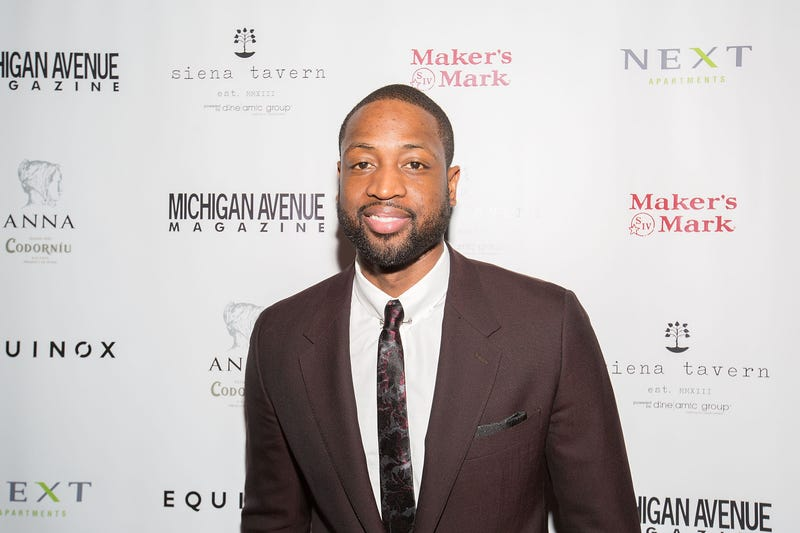 NBA Player Dwyane Wade Celebrates Michigan Avenue Magazine's Winter Issue With Dwyane Wade at Siena Tavern on December 11, 2016 in Chicago, IL.