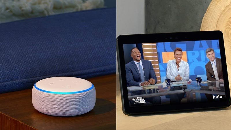 Two Echo Dots | $90 | Amazon | Discount show in cartTwo Echo Shows | $360 | Amazon | Discount shown in cart