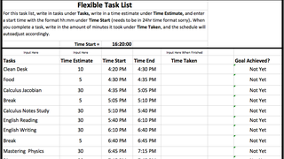 tracking list excel template