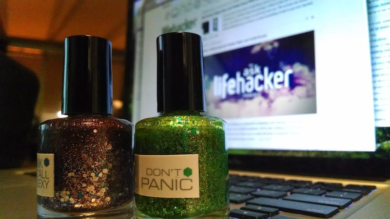 Illustration for article titled Use Glitter Nail Polish to Make Your Laptop Tamper-Proof