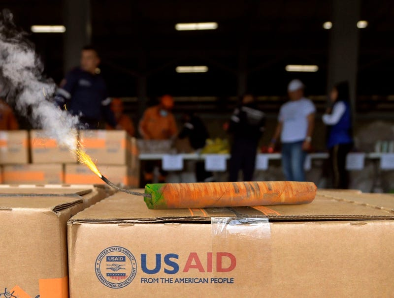 Illustration for article titled U.S. Aid To Venezuela Just Lit Stick Of Dynamite Painted To Look Like Carrot
