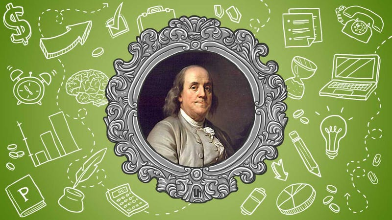 Illustration for article titled Benjamin Franklin's Best Productivity Tricks