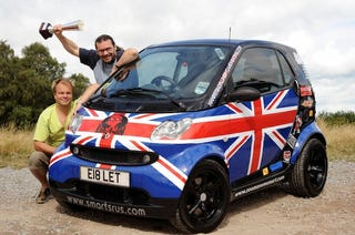 Illustration for article titled Brabus Smart ForTwo Defeats 39 Supercars, Wins Cannonball Run Europe