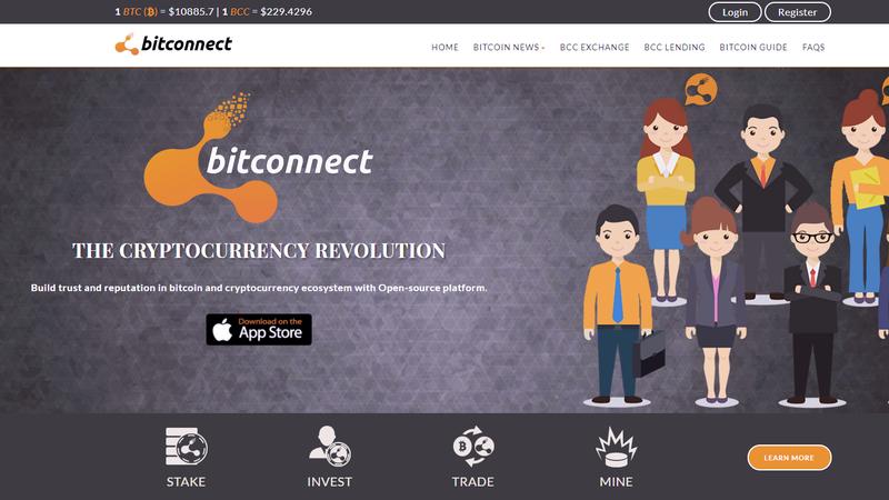 Image: Screengrab via BitConnect.co
