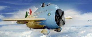 Illustration for article titled This strange barrel airplane is the ancestor of modern jet engines