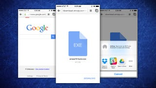 Chrome for iOS Now Downloads and Saves Files in Supported