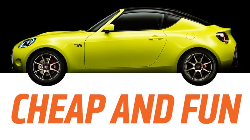 Illustration for article titled The Toyota S-FR Will Be Light, Fun And Cheaper Than A Mazda Miata