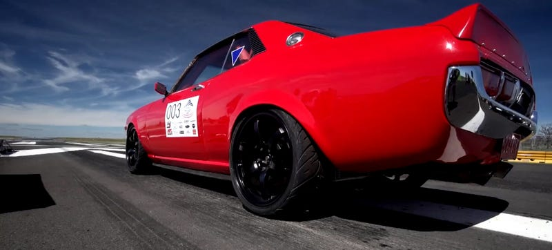 Illustration for article titled This 1000 Horsepower 1971 Toyota Celica With A GT-R Driveline Will Tear Your Brain In Half