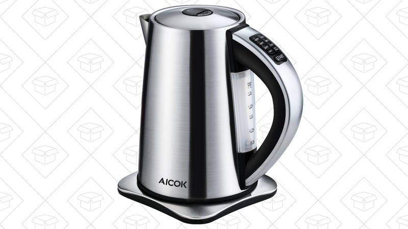 Aicok electric kettle, $30 with code ZZ3X4OWE
