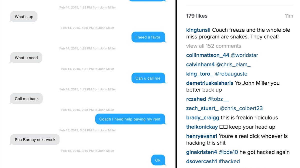 now laremy tunsil's instagram has posted alleged conversations with