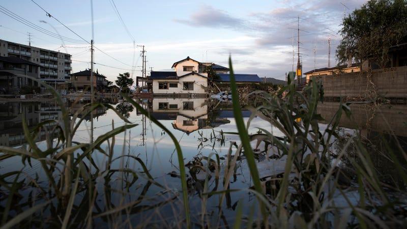 Flooding in Okayama, Japan.
