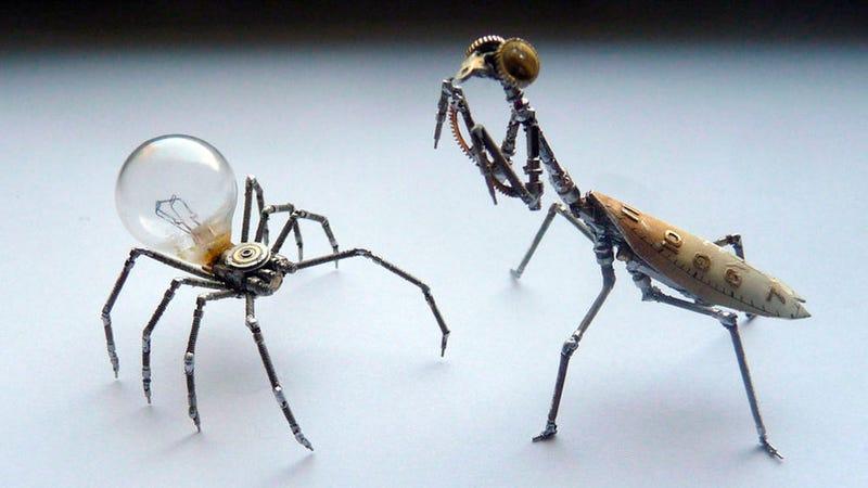 Illustration for article titled Estos increíbles insectos hechos con relojes parecen vivos