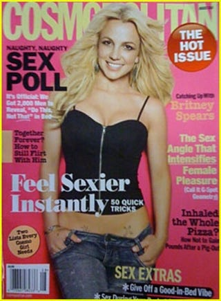 Illustration for article titled Britney Has A Slightly Stiff Neck On The Cover Of Cosmopolitan