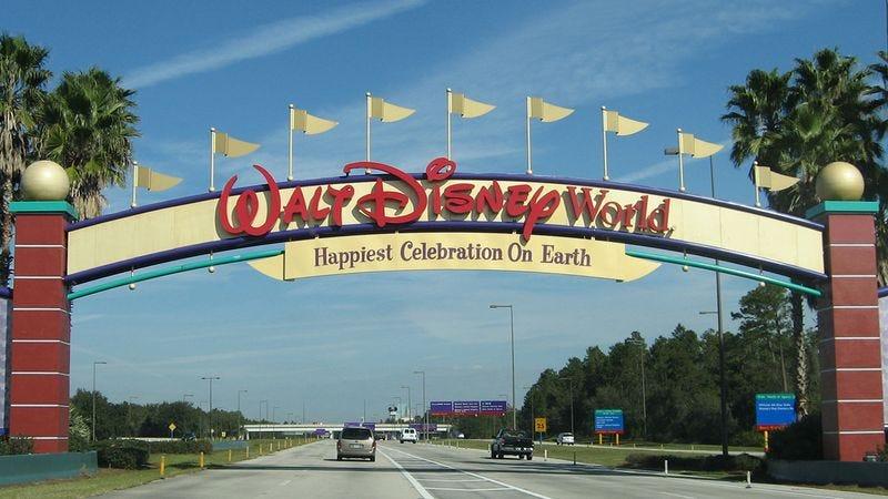 Disney World entrance.
