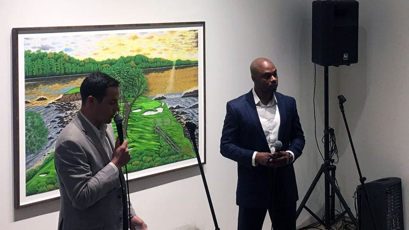 Max Adler interviews Valentino Dixon at Dixon's first solo art show after being released from prison for a crime he didn't commit.