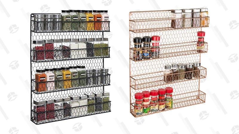 Wall Mounted Spice Rack Storage Organizer (Black)| $38 | AmazonWall Mounted Spice Rack Storage Organizer (Copper) | $38 | Amazon