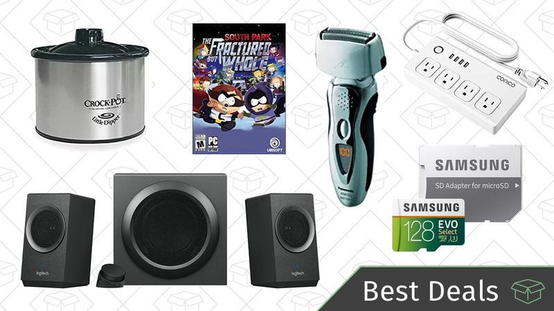 Illustration for article titled Friday's Best Deals: Logitech Speaker System, Panasonic Shavers, MicroSD Cards, And More