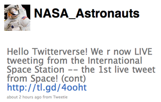 Illustration for article titled ISS Astronauts Get Ultimate Wireless Network, Send First Tweet From Space