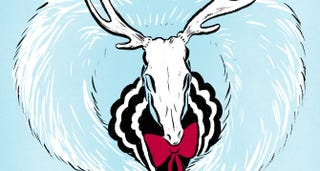 Illustration for article titled Christmas Couture: Santa's Reindeer, Reimagined as Runway Stars