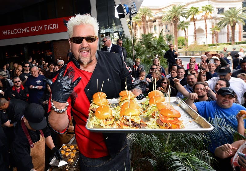 Fieri with some bomb-dot-com tasty sliders.