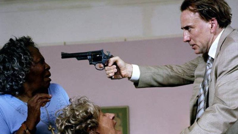 """Nicolas Cage, playing """"very bad cop"""" in Bad Lieutenant: Port Of Call New Orleans"""