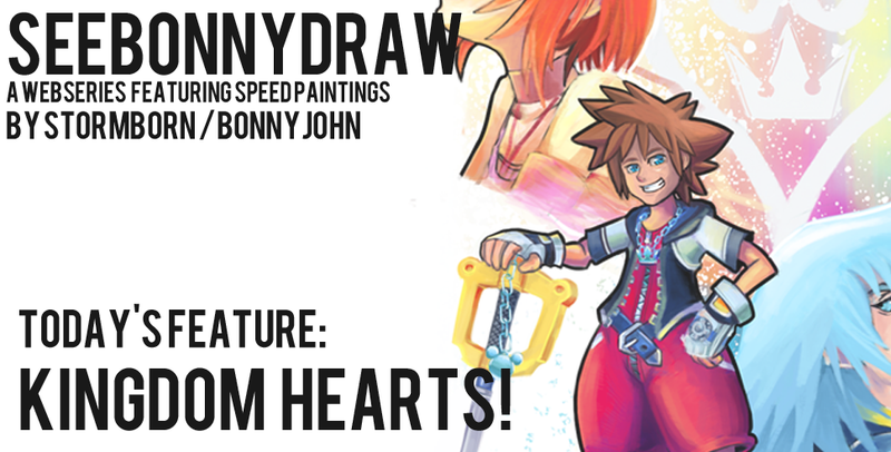 Illustration for article titled Kingdom Hearts - Speed Painting!