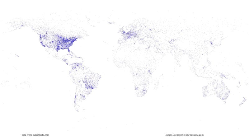 A map of the world as plotted by airports 18s2dfqp9b13mjpgg gumiabroncs Choice Image