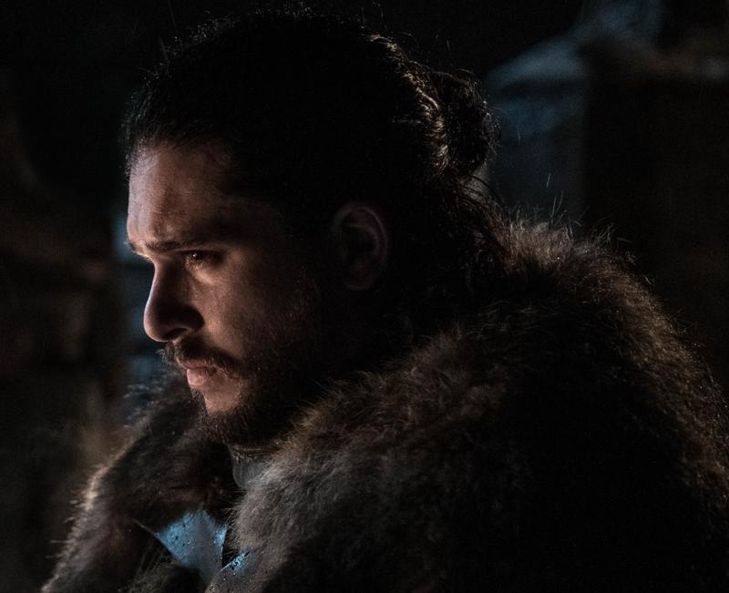 Jon Snow (Kit Harington) does some classic Jon Snow-style brooding.