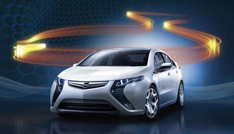 Illustration for article titled Opel Ampera Officially Unveiled!