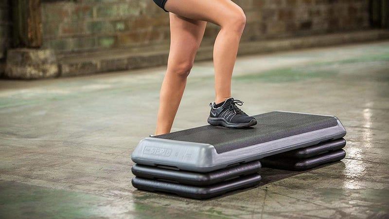 The Step Circuit Sized Aerobic Platform | $33 | AmazonThe Step Health Club Sized Aerobic Platform | $60 | AmazonExtra Step Risers (Health Club Size) | $18 | Amazon