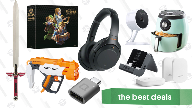 Illustration for article titled Monday's Best Deals: Nerf Gold Box, Dash Air Fryers, eero Routers, and More