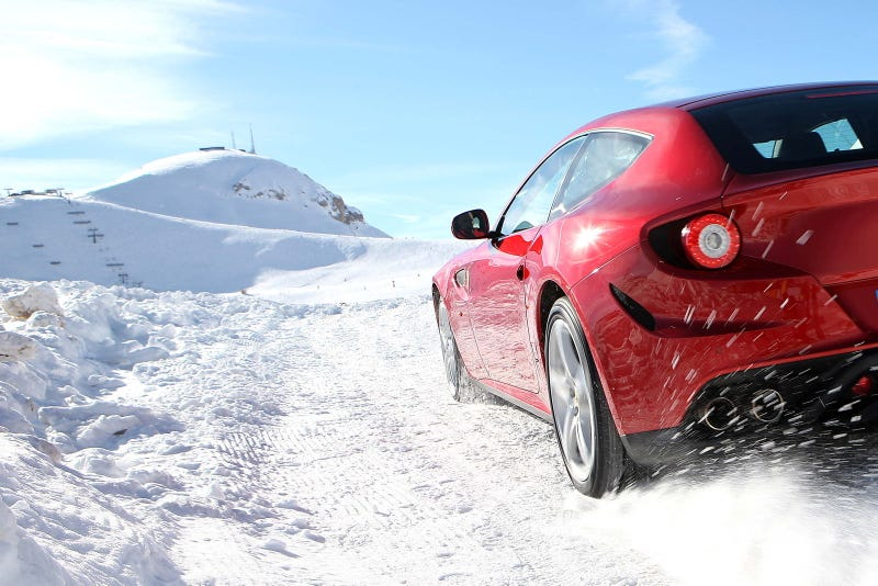 Illustration for article titled Ferrari FF snowpocalypse redux