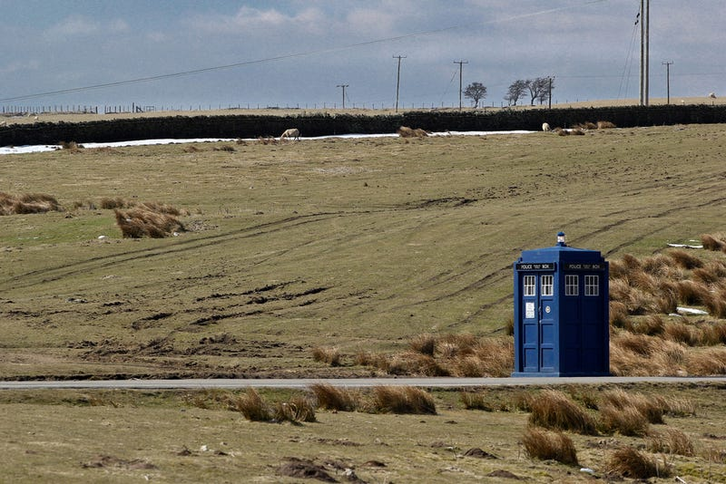 Illustration for article titled A wallpaper-worthy shot of the TARDIS on Gelligaer Common
