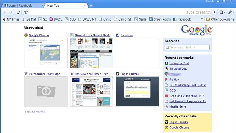 Illustration for article titled Google Chrome Hands On and First Impressions with Screenshots