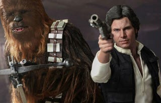 Illustration for article titled Han & Chewie Figures Look Real Enough To Pull The Ears Off A Gundark