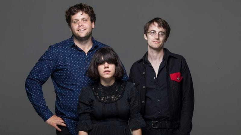 Paternoster, center, with the rest of Screaming Females